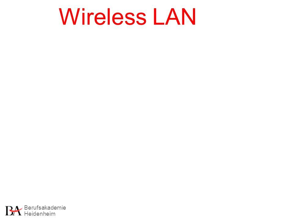 Berufsakademie Heidenheim Christian Aschoff Wireless LAN Seite 12 Einsatzmöglichkeiten von WLans.