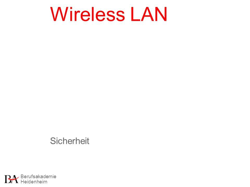 Berufsakademie Heidenheim Wireless LAN Sicherheit