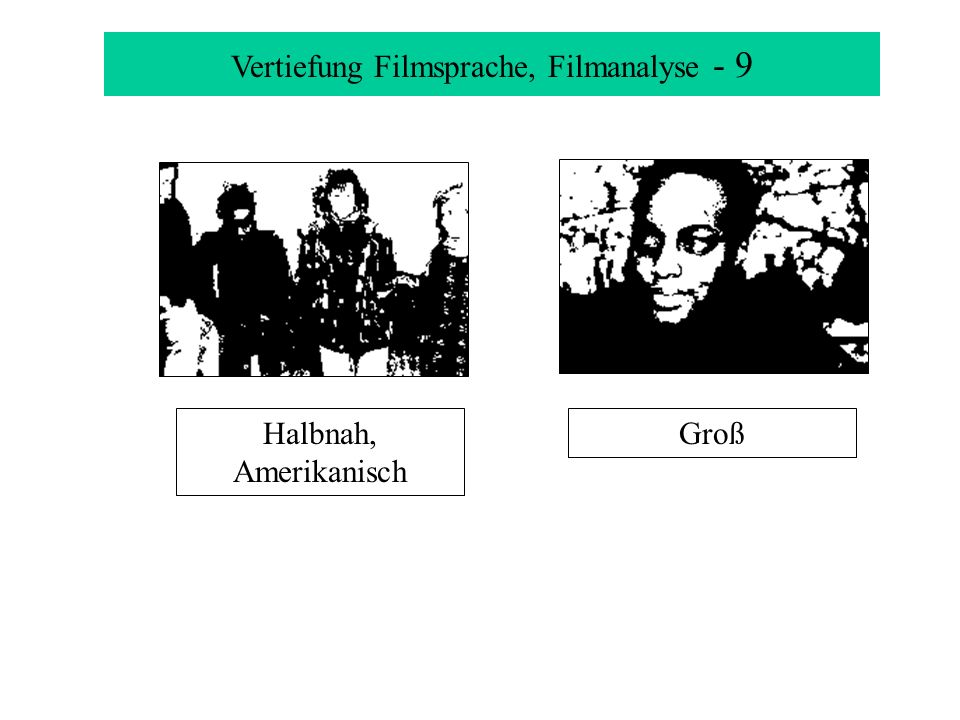 Vertiefung Filmsprache, Filmanalyse - 9 GroßHalbnah, Amerikanisch