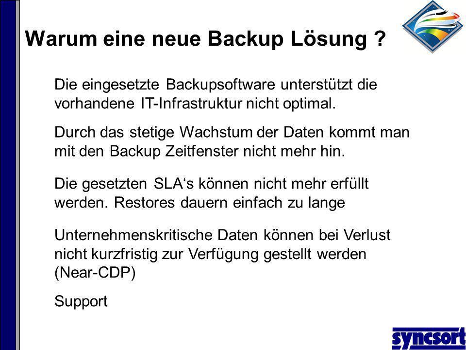 Warum eine neue Backup Lösung .