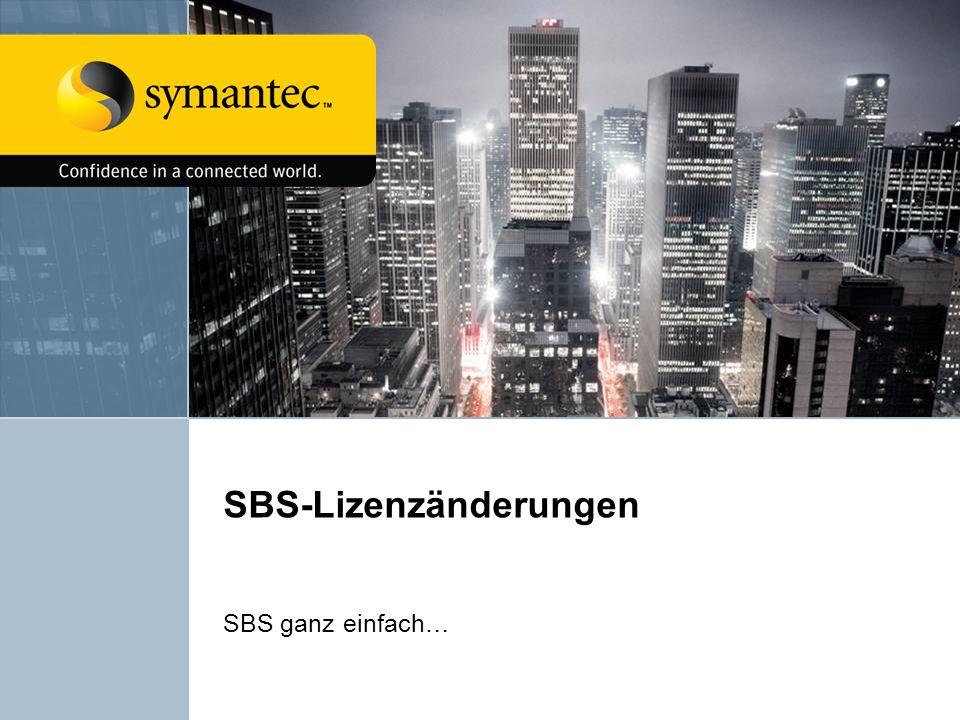 SBS-Lizenzänderungen SBS ganz einfach…