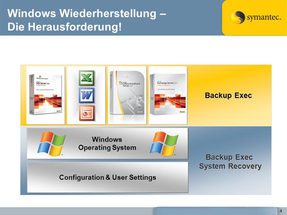 55 Daten und Systemschutz System Protection Data Protection Daten ändern sich dauernd Systeme ändern sich ab und zu OS Service Pack New Application Patch Applied