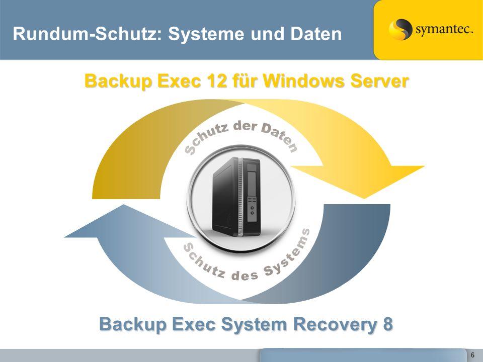 57 BESR Granular Restore Option - Exchange Neue GUI (Tabs) –File/Folder –Exchange, und –SharePoint Alle Wiederherstellungs- möglichkeiten in EINER Oberfläche.