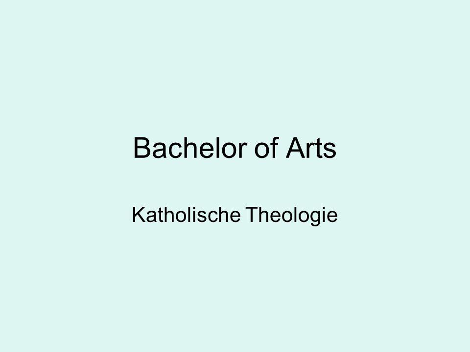 Verteilung der Kreditpunkte in der Bachelor-Phase 65 CP Katholische Theologie 65 CP anderes Fach 30 CP Optionalbereich 6 CP mündl.