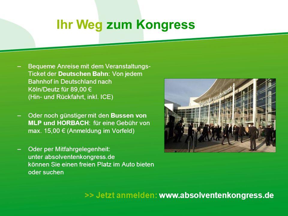 –Bequeme Anreise mit dem Veranstaltungs- Ticket der Deutschen Bahn: Von jedem Bahnhof in Deutschland nach Köln/Deutz für 89,00 (Hin- und Rückfahrt, inkl.