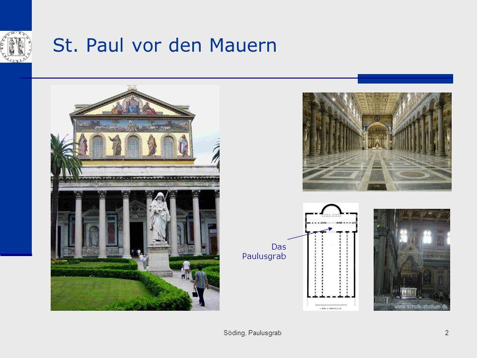 Söding, Paulusgrab13 Das Paulusgrab Die später verschlossenen Löcher in der Grabplatte für Weihegaben.