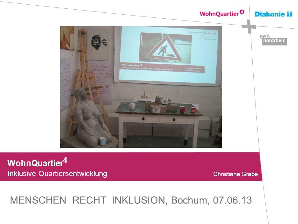 WohnQuartier 4 Inklusive Quartiersentwicklung Christiane Grabe MENSCHEN RECHT INKLUSION, Bochum, 07.06.13