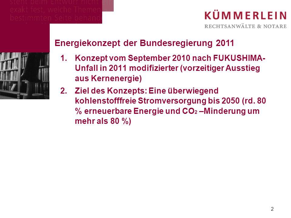 1.Konzept vom September 2010 nach FUKUSHIMA- Unfall in 2011 modifizierter (vorzeitiger Ausstieg aus Kernenergie) 2.Ziel des Konzepts: Eine überwiegend kohlenstofffreie Stromversorgung bis 2050 (rd.