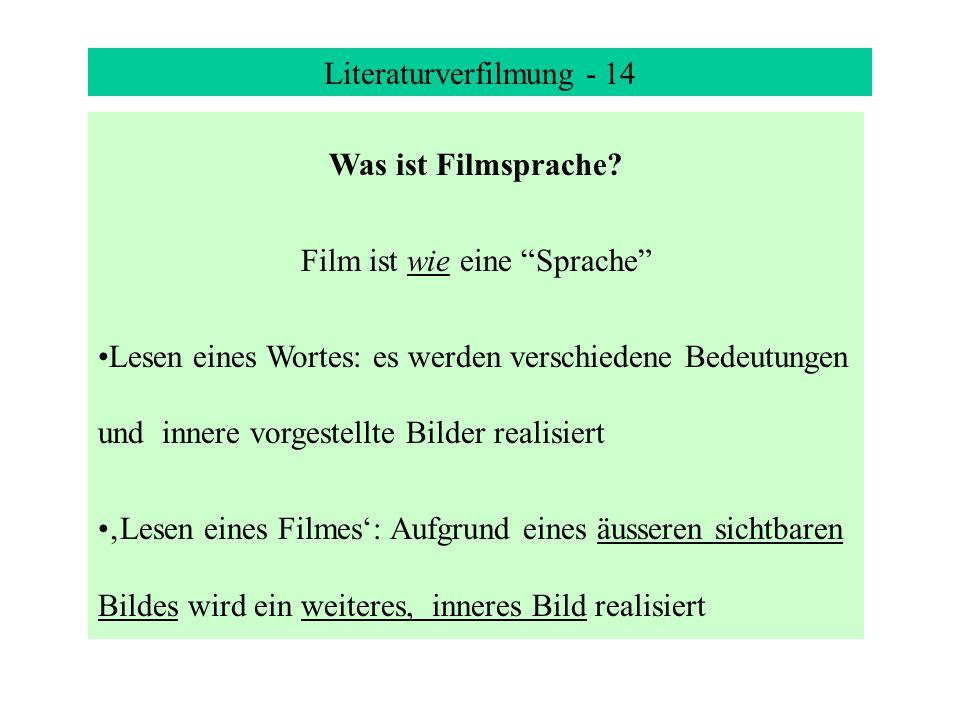 Literaturverfilmung - 14 Was ist Filmsprache.