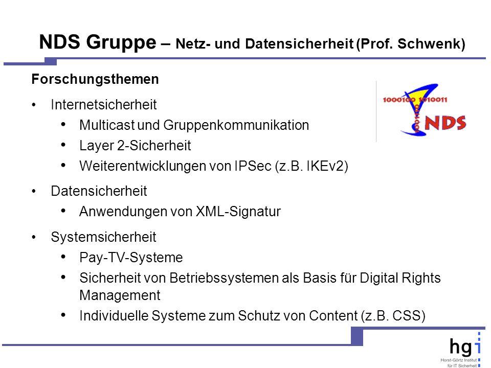 NDS Gruppe – Netz- und Datensicherheit (Prof.