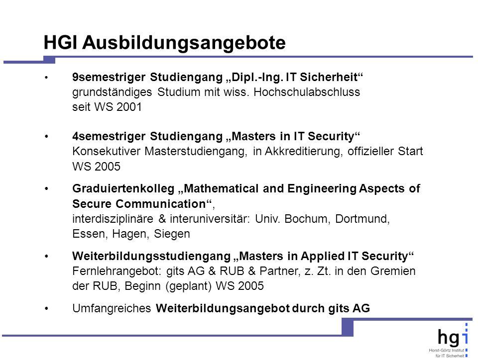 9semestriger Studiengang Dipl.-Ing.IT Sicherheit grundständiges Studium mit wiss.