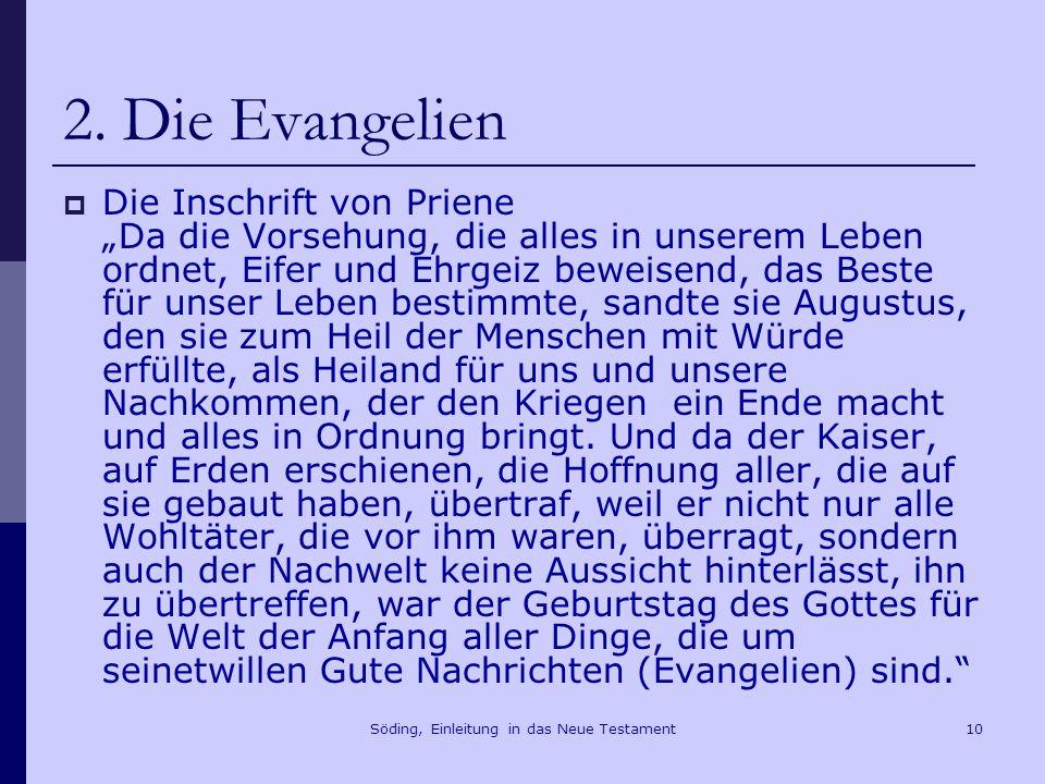 Söding, Einleitung in das Neue Testament11 2.Die Evangelien Jes 61,1f.