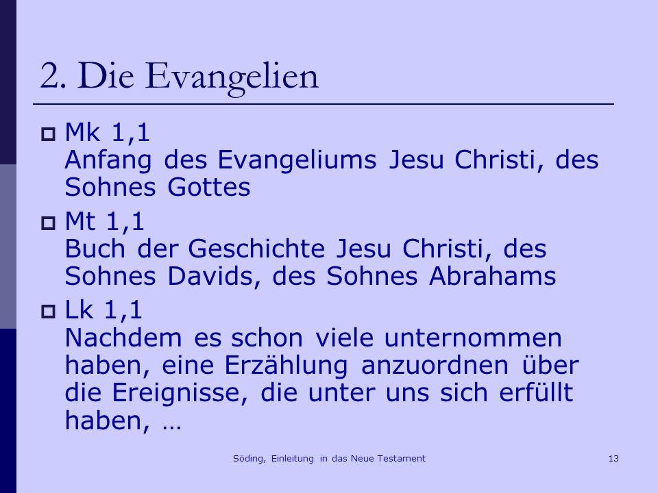 Söding, Einleitung in das Neue Testament14 2.