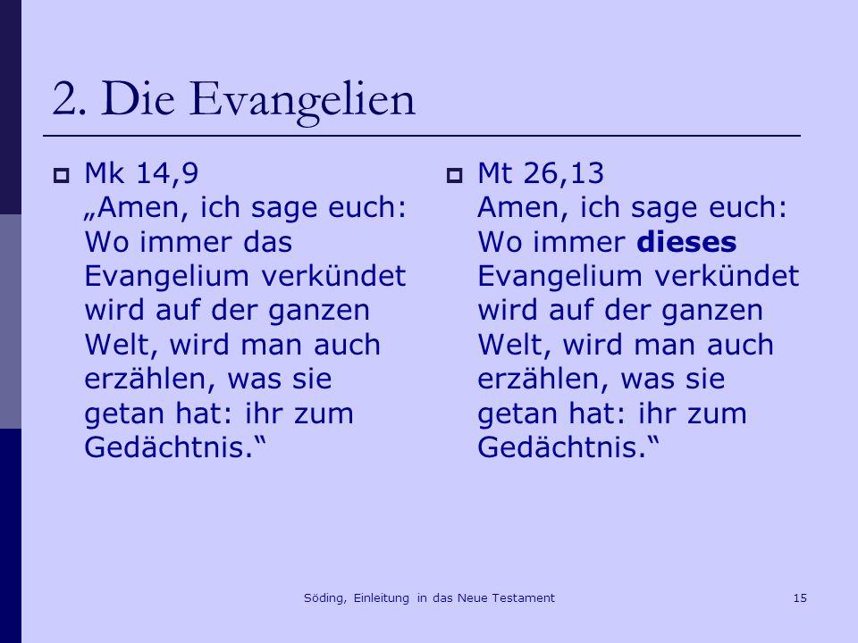 Söding, Einleitung in das Neue Testament16 2.