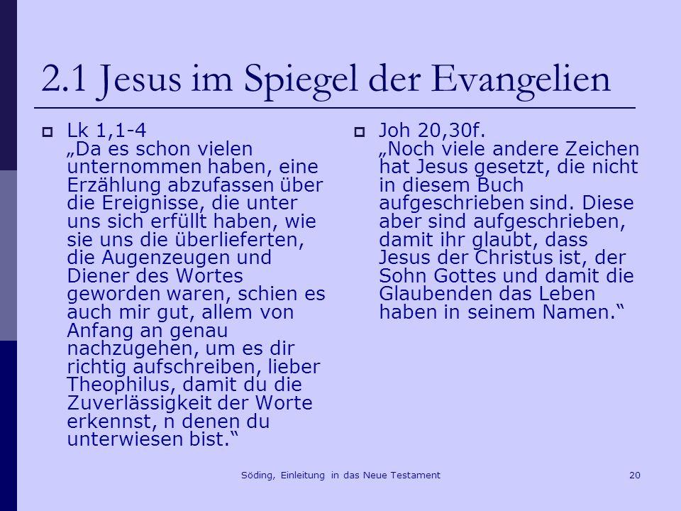 Söding, Einleitung in das Neue Testament21 2.2 Kanonisch und apokryph Irenäus von Lyon, Adversus haereses III 11,8f.