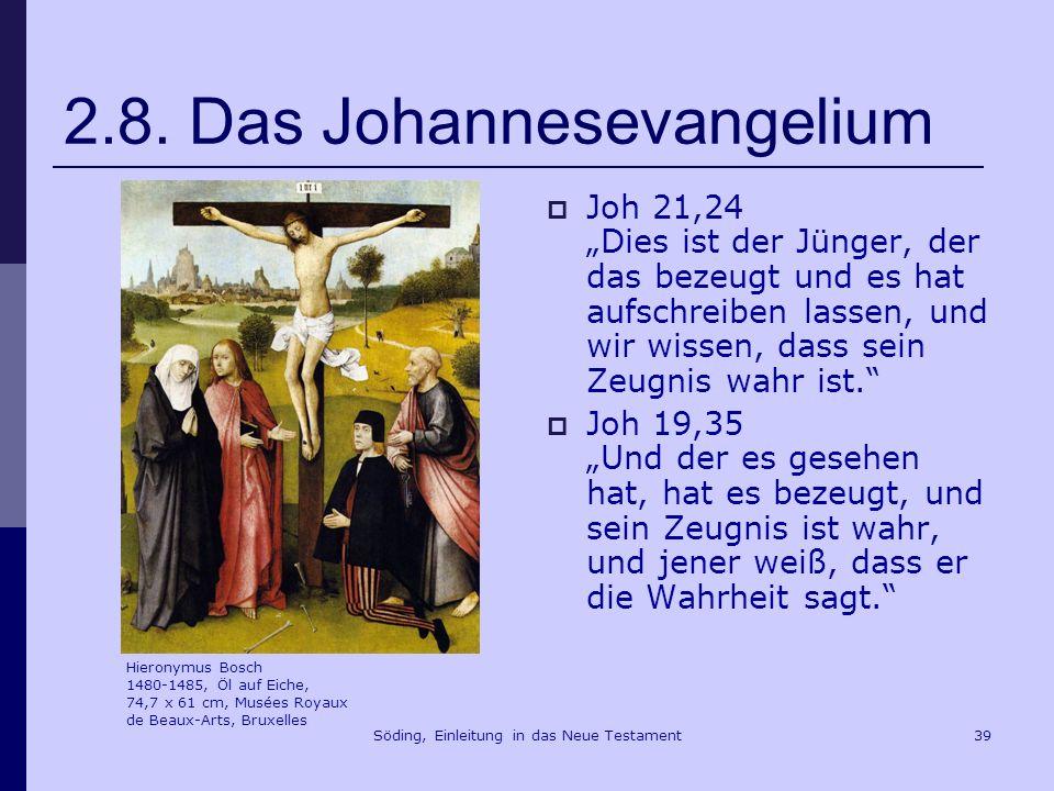 Söding, Einleitung in das Neue Testament40 2.8 Das Johannesevangelium