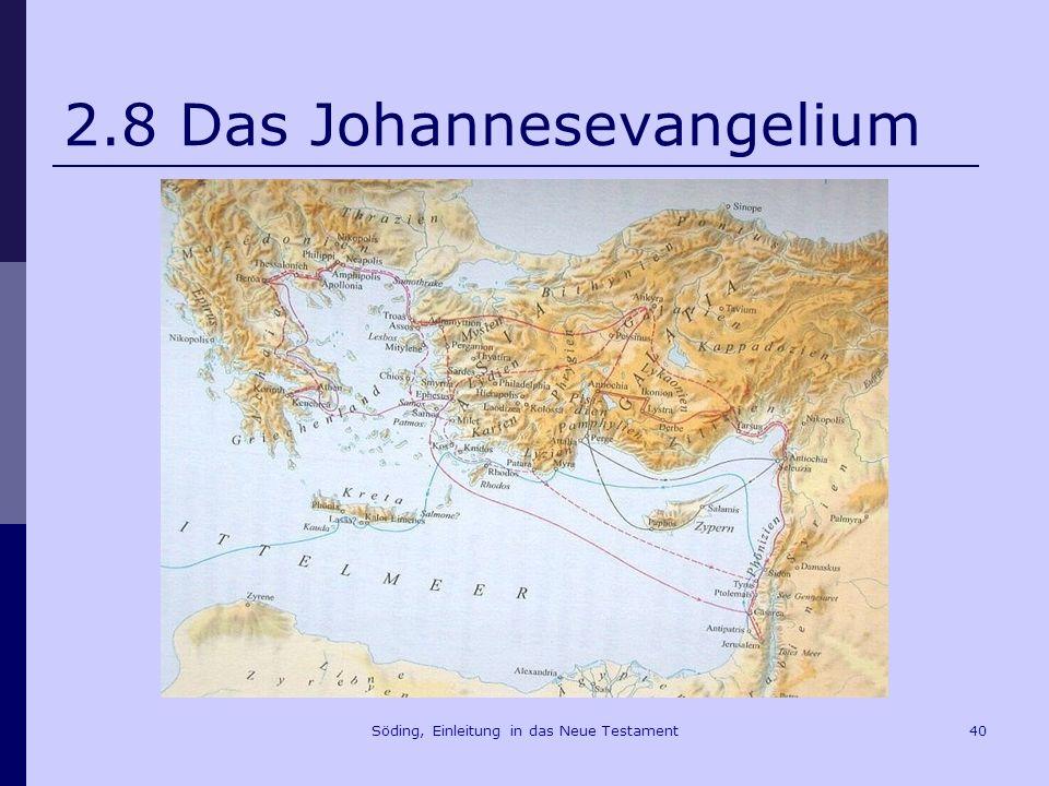 Söding, Einleitung in das Neue Testament41 2.8.