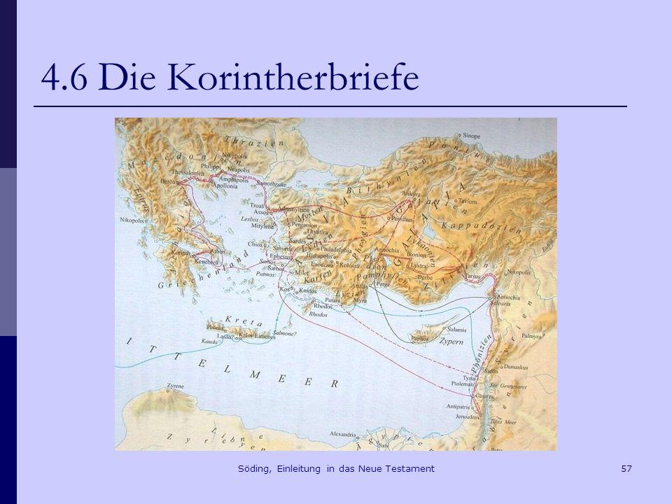 Söding, Einleitung in das Neue Testament58 4.6 Die Korintherbriefe Akropolis Apollon-Tempel