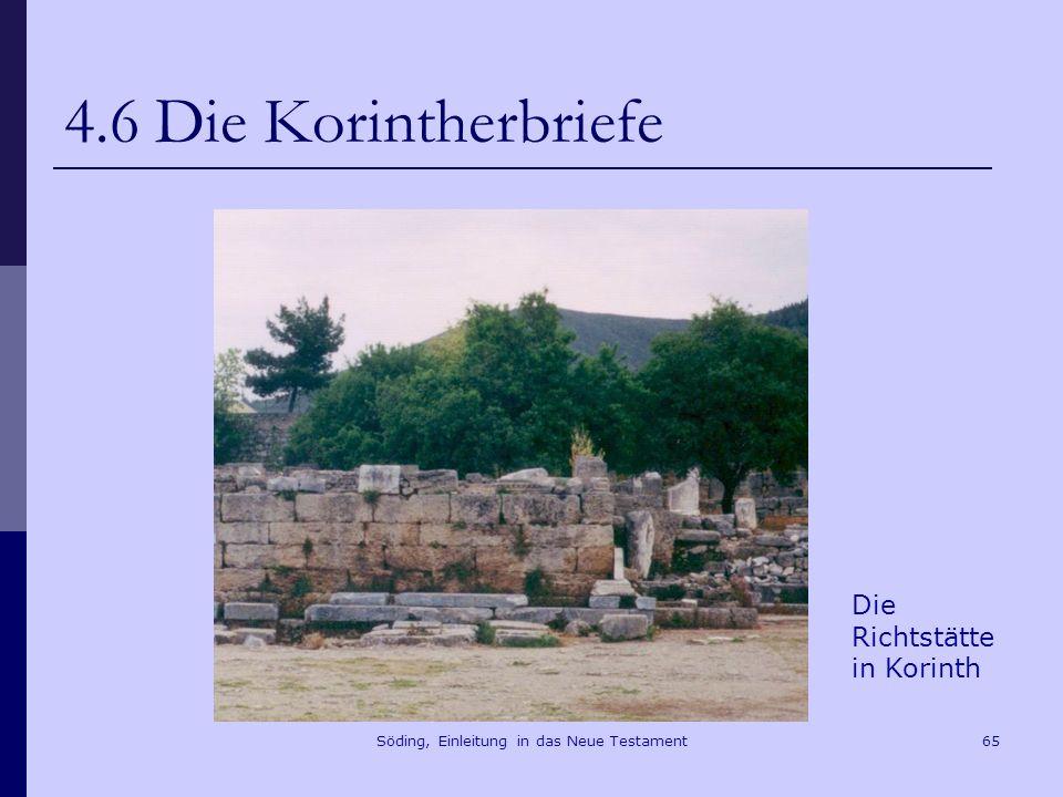 Söding, Einleitung in das Neue Testament66 4.6 Die Korintherbriefe Die Gallio- Inschrift von Delphi