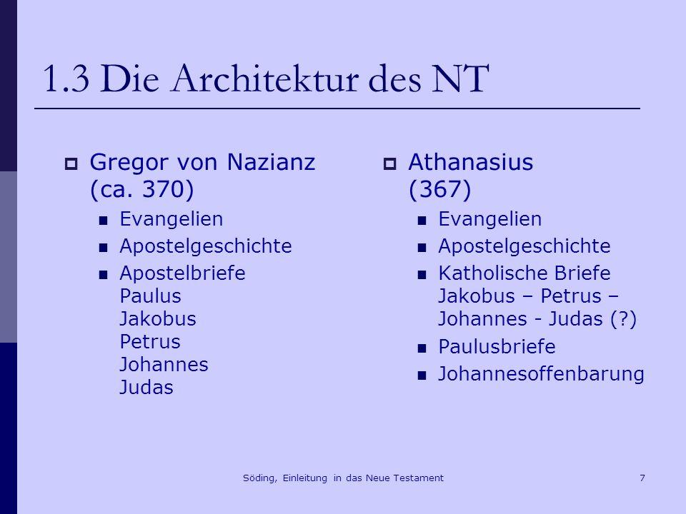 Söding, Einleitung in das Neue Testament8 1.4 Kriterien der Kanonisierung Vinzenz von Lérins (5.