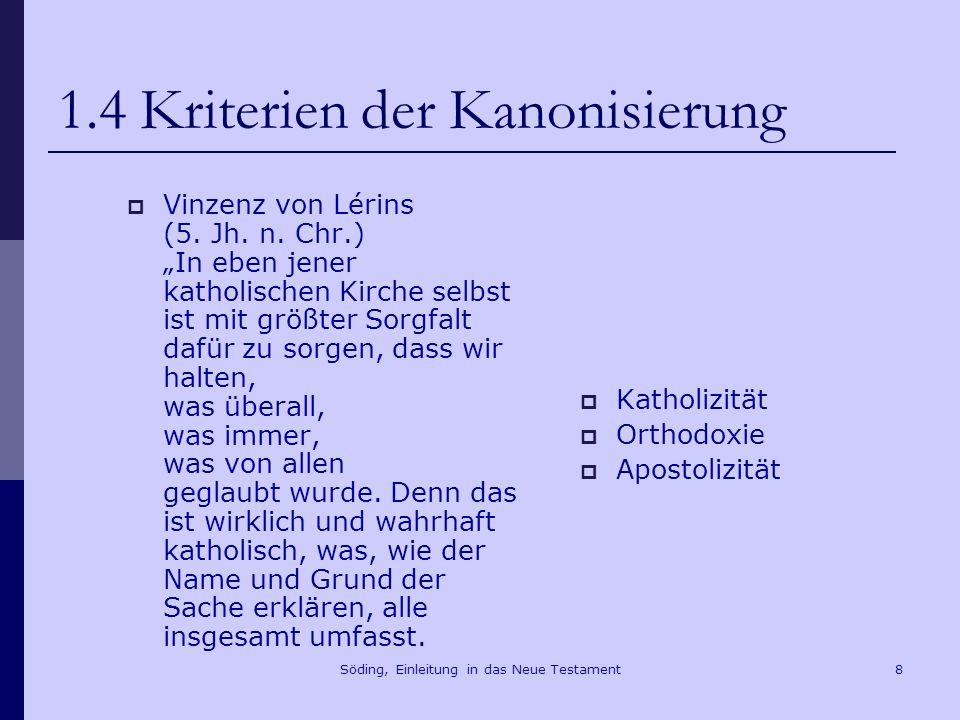 Söding, Einleitung in das Neue Testament9 2.Die Evangelien Mk 1,14f.