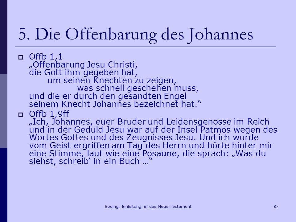 Söding, Einleitung in das Neue Testament88 5.Die Offenbarung des Johannes Offb 21,1f.