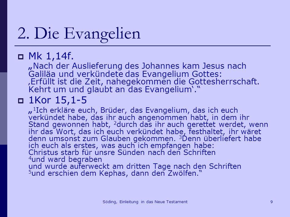 Söding, Einleitung in das Neue Testament10 2.
