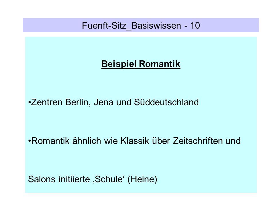 Fuenft-Sitz_Basiswissen - 10 Beispiel Romantik Zentren Berlin, Jena und Süddeutschland Romantik ähnlich wie Klassik über Zeitschriften und Salons init