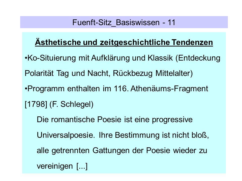 Fuenft-Sitz_Basiswissen - 11 Ästhetische und zeitgeschichtliche Tendenzen Ko-Situierung mit Aufklärung und Klassik (Entdeckung Polarität Tag und Nacht
