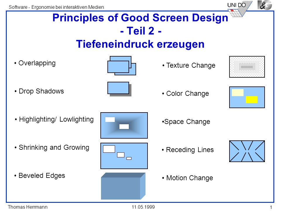 Thomas Herrmann Software - Ergonomie bei interaktiven Medien 11.05.1999 32 Öffnen eines Fensters (2) When a dependent secondary window is activated, its primary windows and related peer windows should also be positioned at the top.