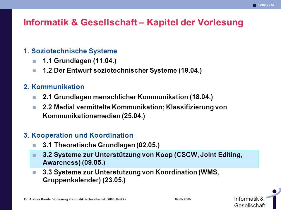Seite 43 / 51 Informatik & Gesellschaft Dr.