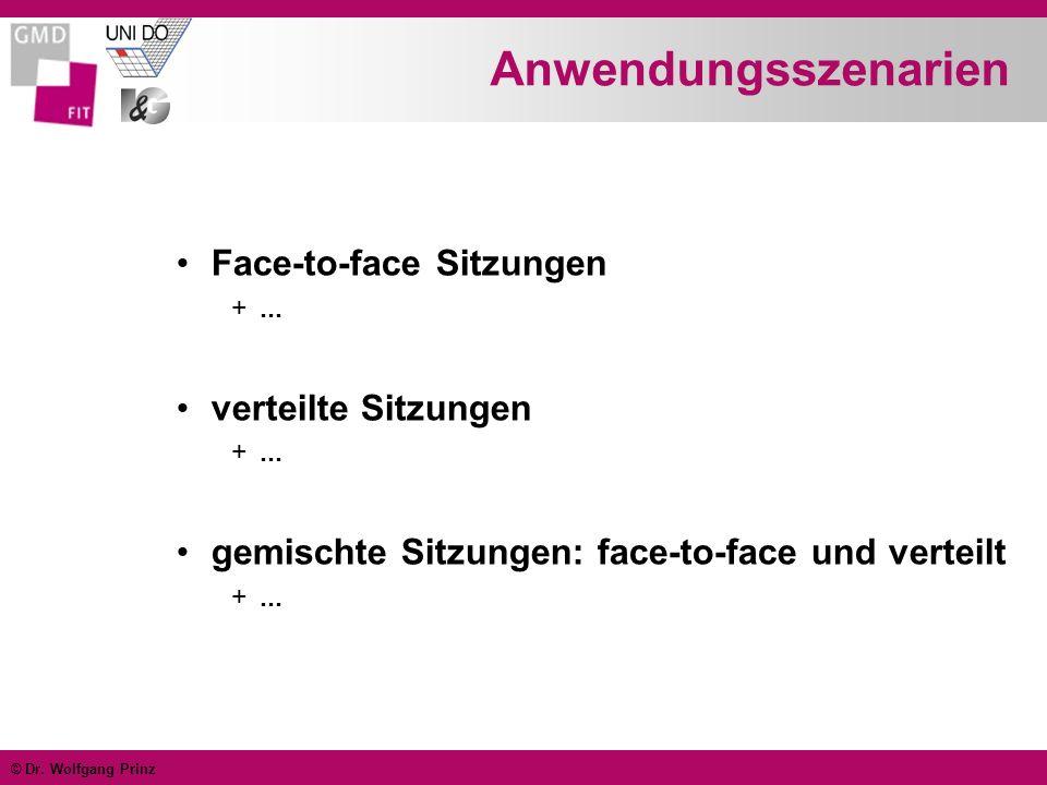© Dr. Wolfgang Prinz Besonderheiten Konsistenzsicherung Antwortzeiten Eingabekoordination Awareness
