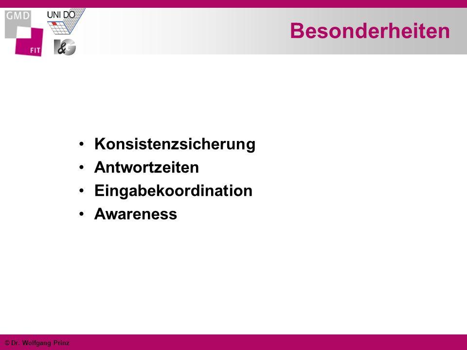 © Dr. Wolfgang Prinz Was wird gemeinsam genutzt? Scrollbar Cursor Telepointer