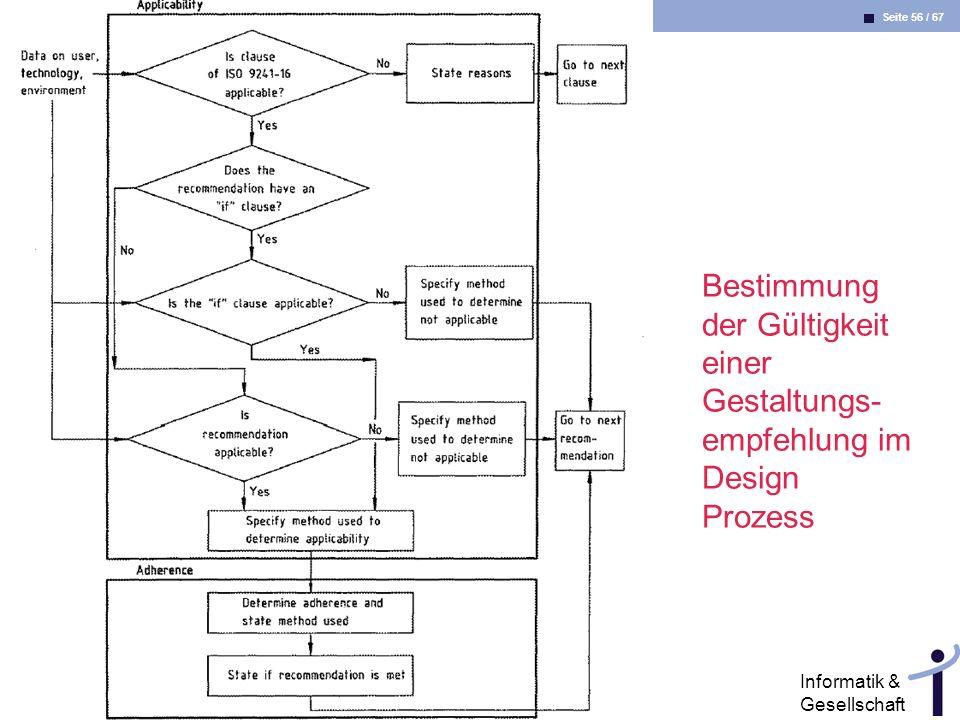 Seite 56 / 67 Informatik & Gesellschaft Dr. Andrea Kienle: Vorlesung Informatik & Gesellschaft 2005, UniDO 27.06.2005 Bestimmung der Gültigkeit einer