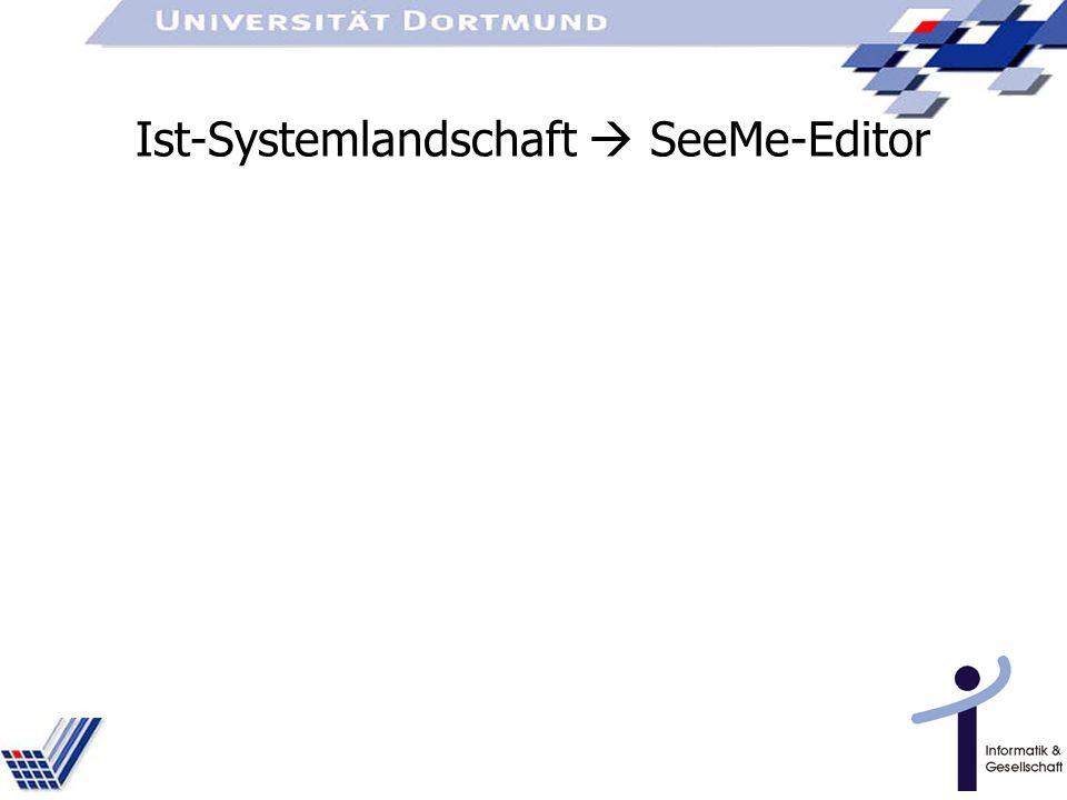 Ist-Systemlandschaft SeeMe-Editor