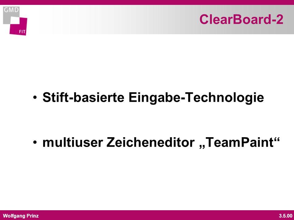 Wolfgang Prinz3.5.00 ClearBoard-2 Stift-basierte Eingabe-Technologie multiuser Zeicheneditor TeamPaint