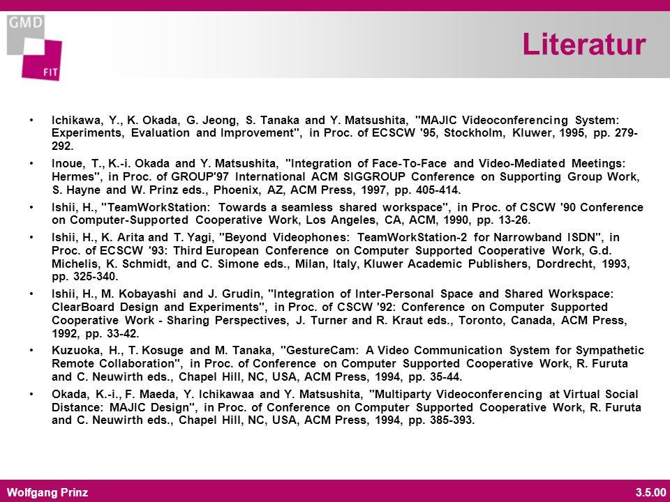 Wolfgang Prinz3.5.00 Literatur Ichikawa, Y., K. Okada, G.