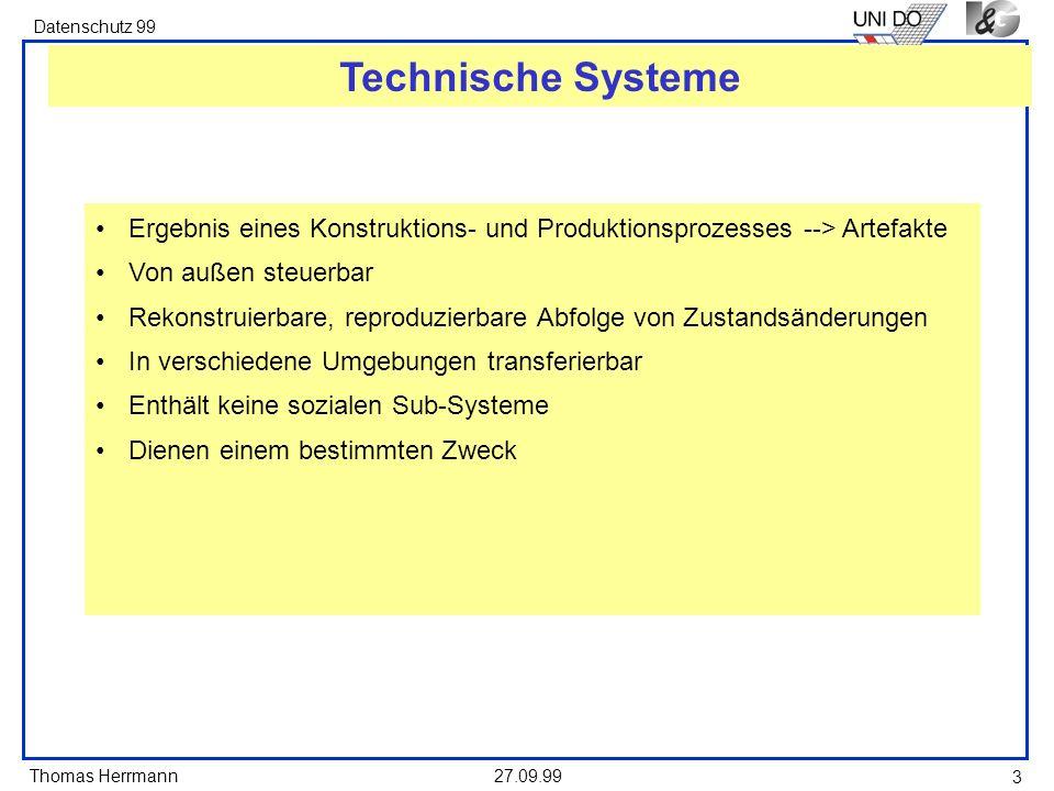 Thomas Herrmann Datenschutz 99 27.09.99 14 Modellierungsnotation - A steht in Beziehung zu B B A