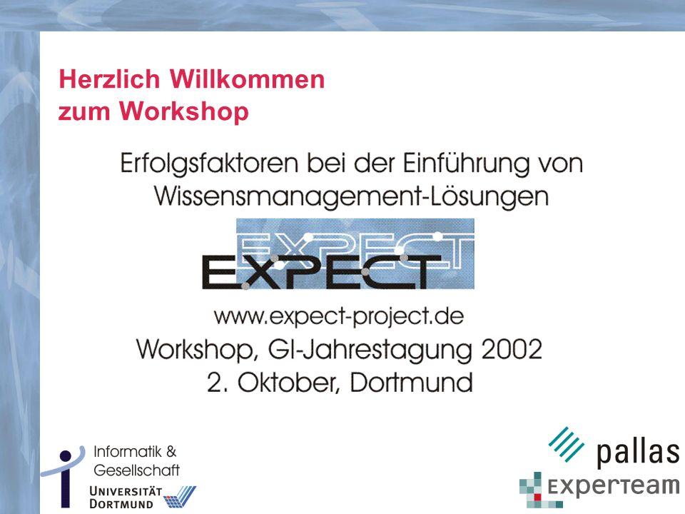 Herzlich Willkommen zum Workshop