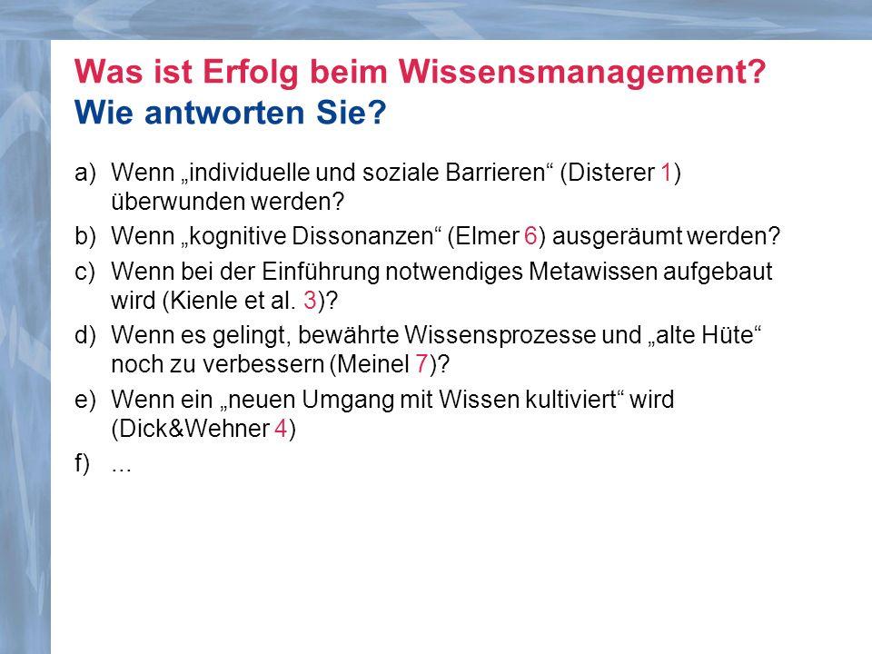 Helmfried Meinel (Verbraucherzentrale NRW): Wissensmanagement-Einführung bei Verbraucher-Zentrale NRW Dr.