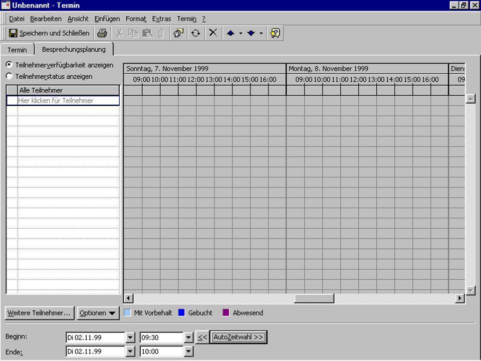 Lernendes Workflow durch teil-autonome Koordination3.11.99 20 Besprechung vorbereiten Termin festlegen Termin auswählen Termin bestätigen lassen Termi