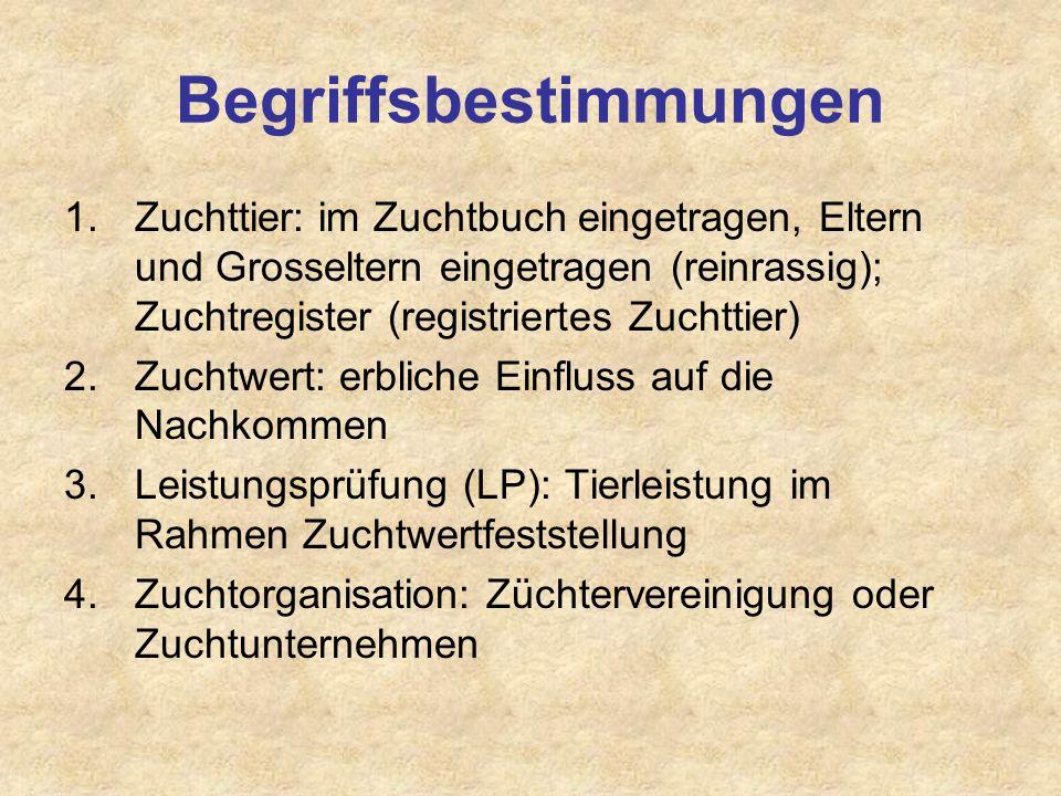 Elemente TZG 5.Züchtervereinigung: Züchter und Zuchtprogramm 6.