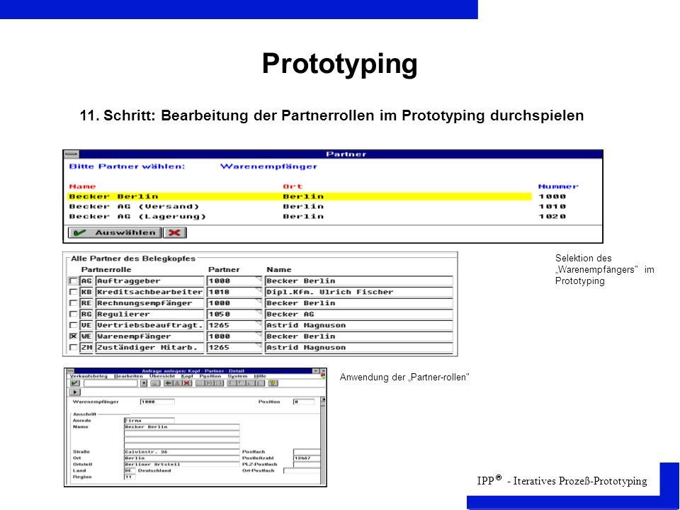 IPP - Iteratives Prozeß-Prototyping Prototyping 11.