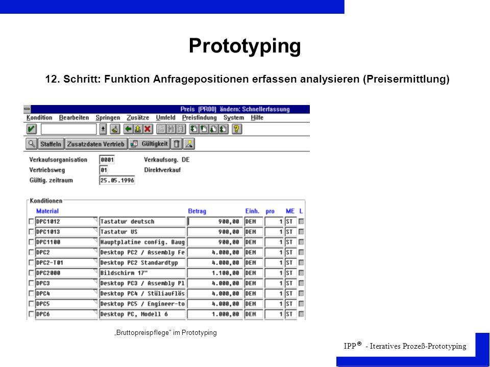 IPP - Iteratives Prozeß-Prototyping Prototyping 12.
