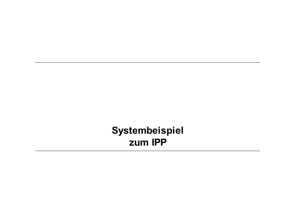 Systembeispiel zum IPP