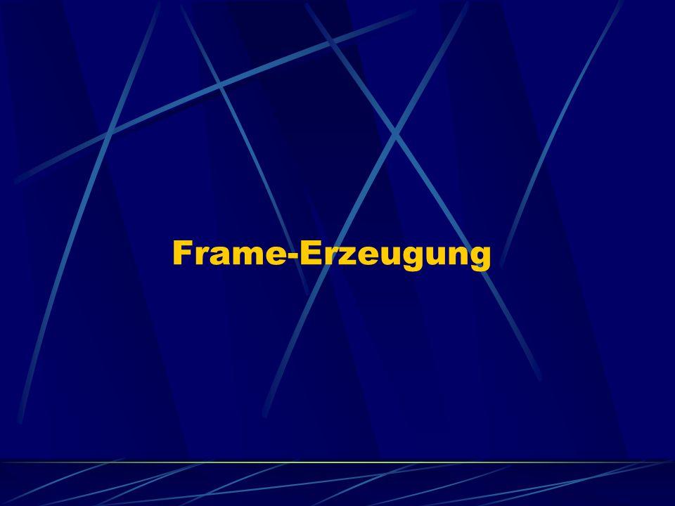 Allgemeiner Aufbau von Frames Eine spezielle Bitfolge markiert den Beginn eines Frames.