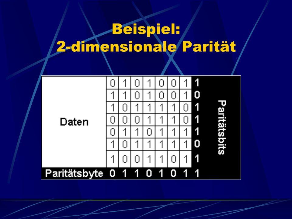 Beispiel: 2-dimensionale Parität