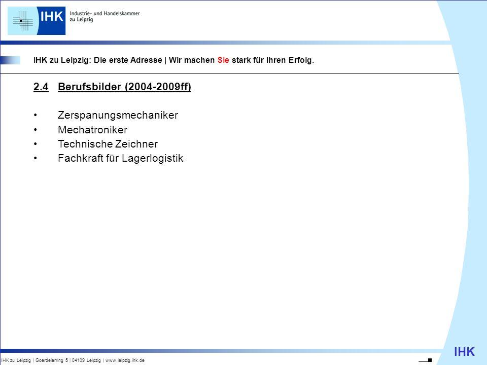 IHK IHK zu Leipzig | Goerdelerring 5 | 04109 Leipzig | www.leipzig.ihk.de IHK zu Leipzig: Die erste Adresse | Wir machen Sie stark für Ihren Erfolg. 2