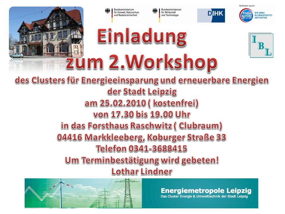 Vortrag 1 (Dauer 30 Minuten) Aktueller Stand des Branchenbuches der Energiemetropole Stadt Leipzig präsentieren sowie über weitere Funktionalitäten der Plattform (Jobbörse, Kommunikationsbereiche für die Clusterteams, etc.) und den damit verbundenen weiteren Entwicklungsmöglichkeiten.