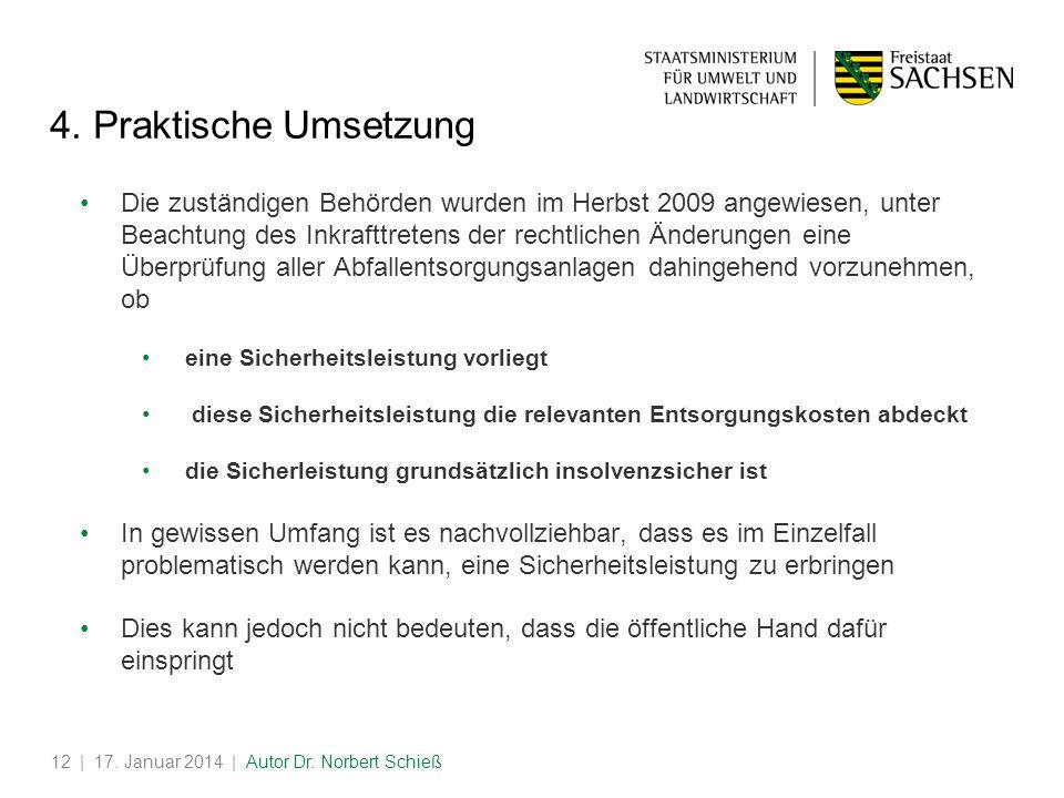 | 17.Januar 2014 | Autor Dr. Norbert Schieß12 4.